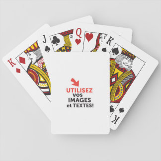 To print your designs in French line DIY Playing Cards