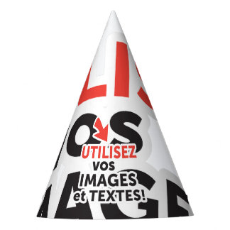 To print your designs in line DIY in French Party Hat