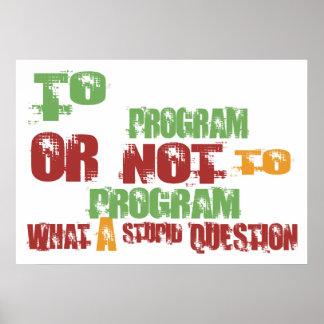 To Program Poster