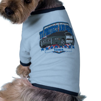 To Protect and Serve Police Car Iowa Pet T Shirt