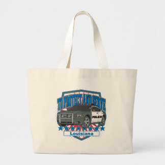 To Protect and Serve Police Car State of Louisiana Canvas Bags