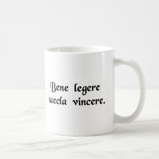 To read well is to master the ages. basic white mug
