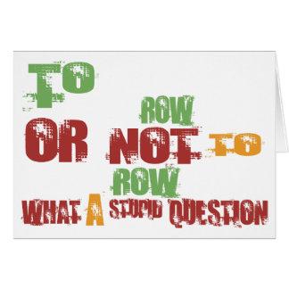 To Row Card