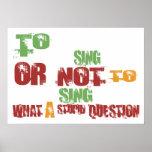 To Sing Print