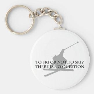 To Ski Or Not To Ski Key Ring
