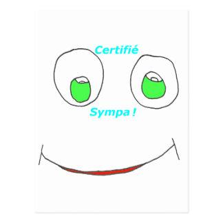 TO SMILE CERTIFIES NICE 1.PNG POSTCARD
