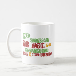 To Snowboard Classic White Coffee Mug