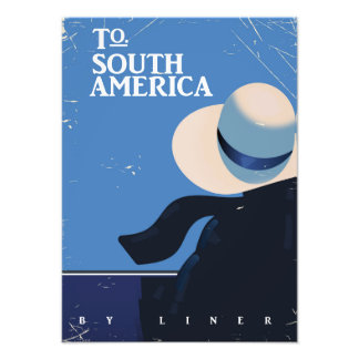 To South America vintage travel poster