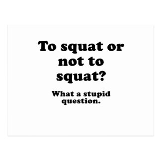 To Squat or Not to Squat What a Stupid Question Postcard