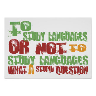 To Study Languages Print