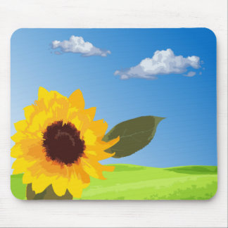 to sunflower mouse mat