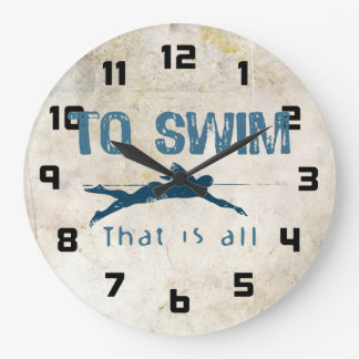 To Swim Large Clock
