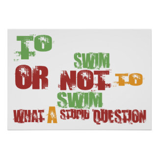 To Swim Poster