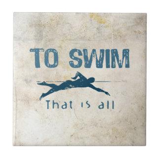 To Swim Ceramic Tile