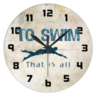 To Swim Wallclock