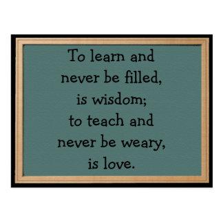 To Teach Is Love Postcard