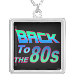 To the 80s 1 square pendant necklace