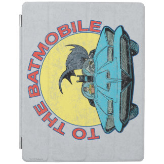 To The Batmobile - Distressed Icon iPad Cover