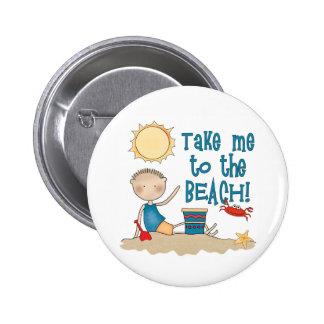 To the Beach (Boy) 6 Cm Round Badge