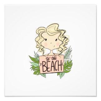To The Beach Photo Print