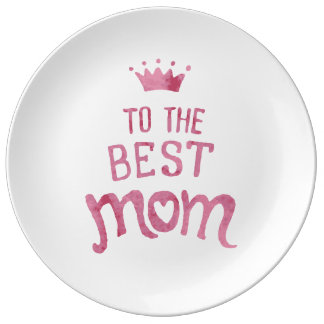 To the best Mom - decorative plate