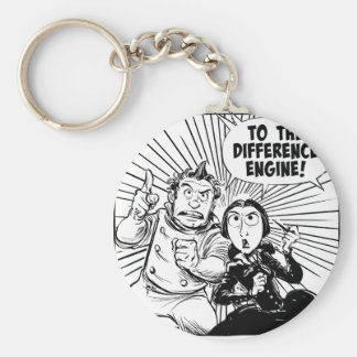 To The Difference Engine Panel Basic Round Button Key Ring