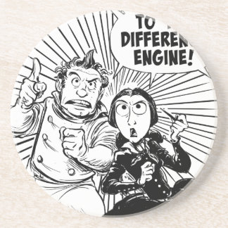 To The Difference Engine Panel Beverage Coasters