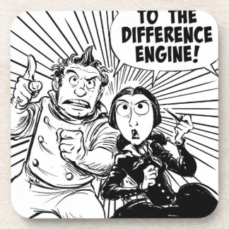 To The Difference Engine Panel Coaster