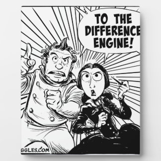 To The Difference Engine Panel Display Plaques