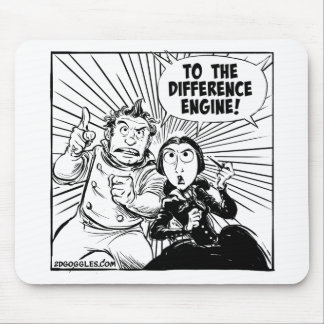 To The Difference Engine Panel Mouse Mat