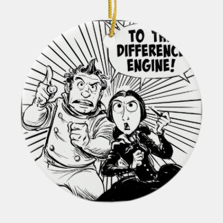 To The Difference Engine Panel Round Ceramic Decoration