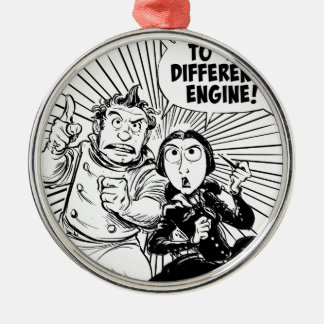 To The Difference Engine Panel Silver-Colored Round Decoration