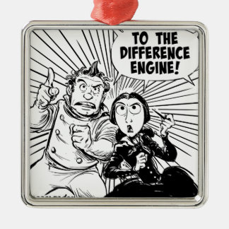 To The Difference Engine Panel Silver-Colored Square Decoration