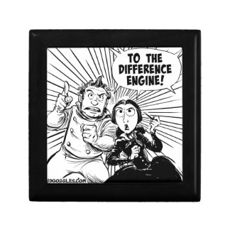 To The Difference Engine Panel Small Square Gift Box