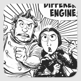 To The Difference Engine Panel Square Sticker