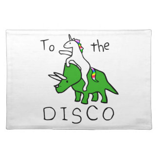 To The Disco (Unicorn Riding Triceratops) Placemat