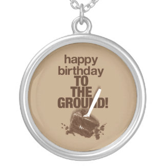 To the Ground Silver Plated Necklace