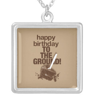 To the Ground Square Pendant Necklace