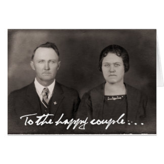 To the happy couple.  Greeting Card. Greeting Card