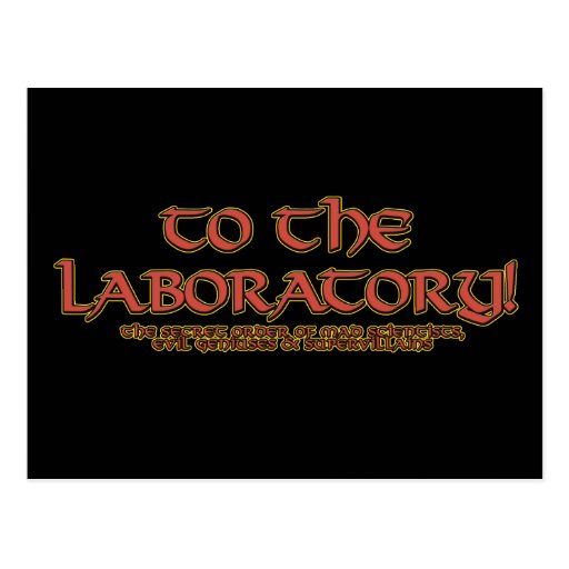 To the Laboratory! Postcards