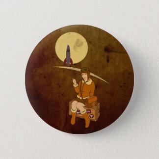 To the moon 6 cm round badge