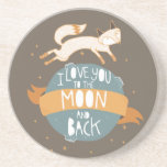 """""""To the moon and back"""" Beverage Coaster"""