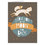 """""""To the moon and back"""" Greeting Card"""