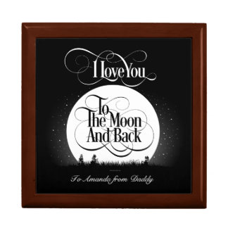 To The Moon And Back (personalized) Gift Box