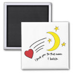 To The Moon & Back Square Magnet
