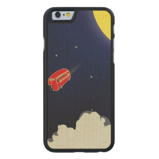 To the moon carved maple iPhone 6 case
