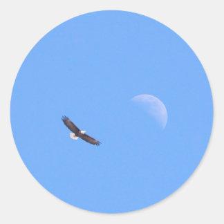 To the Moon Round Sticker