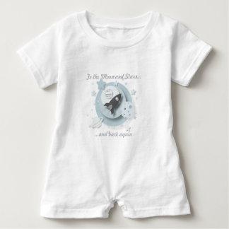 """To the Moon & Stars..."" Romper Suit Baby Bodysuit"