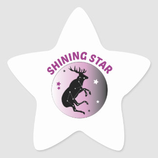To The Moon Star Sticker