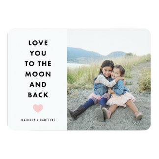 To the Moon | Valentine's Day Photo Card 13 Cm X 18 Cm Invitation Card